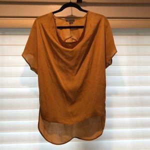 Vince - XS silk blouse - non metallic gold color